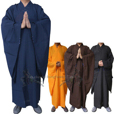 Top Quality Shaolin Buddhist Monk Dress Meditation Haiqing Robe Kung fu Suit