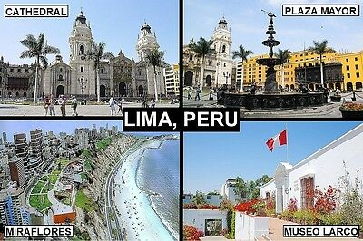 SOUVENIR FRIDGE MAGNET of LIMA PERU