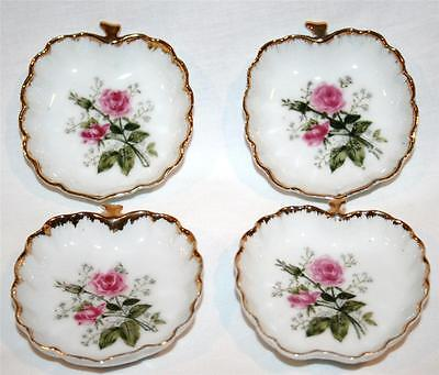 Vintage LEFTON CHINA Numbered Butter Pats *Set of 4*  #501