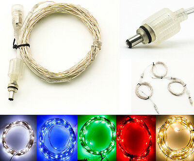 BZONE® DC Plug 10M 100led Waterproof Silver Wire LED Strip Light String Fairy