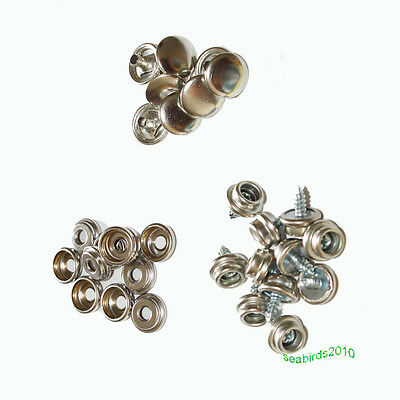 """50set boat marine canvas cover screw snap boat car covers parts 3/8"""" screws"""