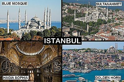 SOUVENIR FRIDGE MAGNET of ISTANBUL TURKEY