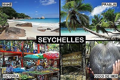 SOUVENIR FRIDGE MAGNET of THE SEYCHELLES