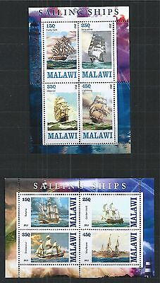 Malawi 2013 Sailing Ships 2X Mini Sheet ** Mnh
