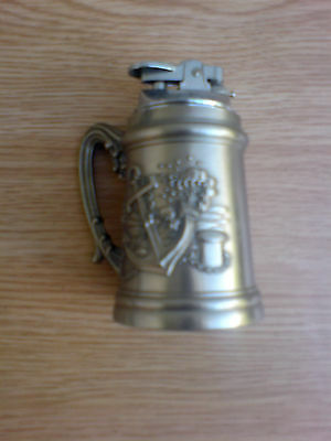 large metal vintage naval themed table lighter,height 4 inches,not working