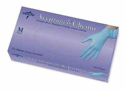 Medline Accutouch Chemo Nitrile Exam Gloves Blue - Medium - 1000 Count
