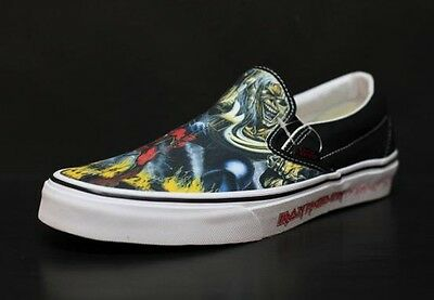 e17d61894b6 VANS CLASSIC IRON maiden number of the beast slip on limited edition ...