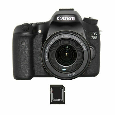 Canon EOS 70D DSLR Camera w/18-135mm Lens & 64GB SDXC Card