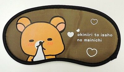 Rilakkuma Relax Bear Brown Elastic Band Sleeping Eye Mask RR07