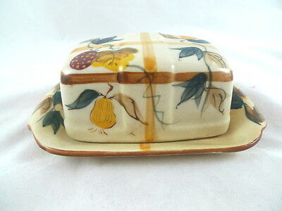 Nasco Japan Hand Painted Butter Dish Fruits