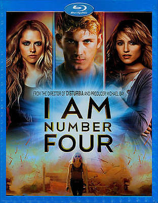 I Am Number Four (Blu-ray Disc, 2011) BLU-RAY Deleted Scenes With Slip Cover NeW
