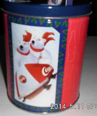 Coca-Cola Tin Can Winter Bears With Jigsaw Puzzle Still Sealed Free Shipping