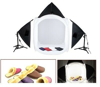 "Pro studio in a box still life photography 3-head lighting 32"" photo tent set"