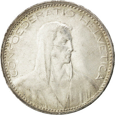[#42384] SWITZERLAND, 5 Francs, 1923, Bern, KM #37, AU(55-58), Silver, 37, 24.95
