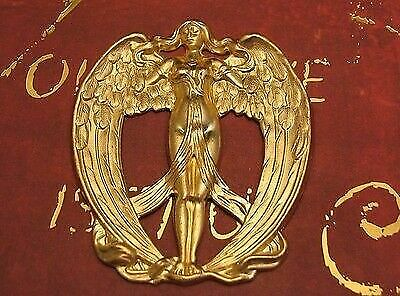 Large Raw Brass Victorian Angel Stamping (1) - FF1133 Jewelry Finding