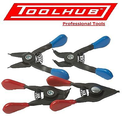 Tool Hub 9201 Mini Small Circlip Plier Set 4 Piece Set Internal External
