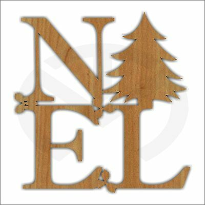 Noel Unfinished Wood Christmas Decoration, Laser-Cut, Door Hanger, Holiday Tree