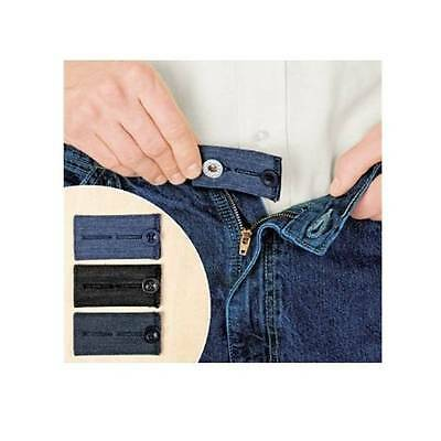 3 Easy Fit Jean Buttons Pants Skirts Expander