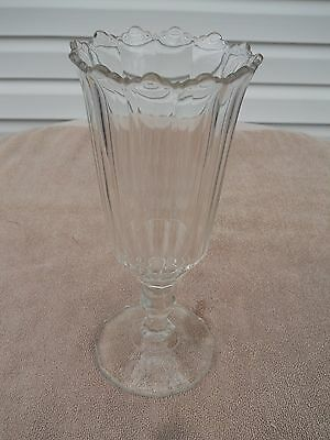 Early Flint Glass Celery Vase 9 1/2 Inches Tall