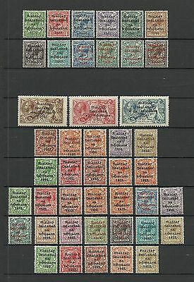 Ireland 1922 (2 scans)Near Complete Mint Overprint collection with 13 seahorses