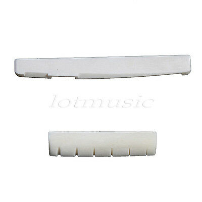 1 set Of  Acoustic Guitar Bone Nut & Saddle Note To Dimensions