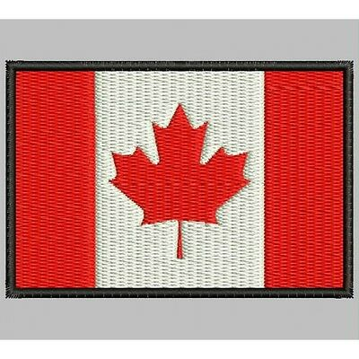 Parche Bordado Bandera de CANADA / Embroidery patch Flag of CANADA.