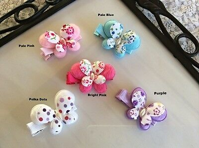 BUTTERFLY NONSLIP HAIRCLIP SET for BABY,TODDLER, GIRL