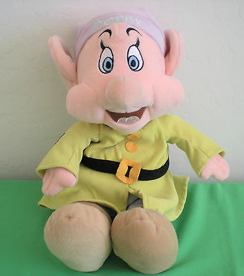 "Walt Disney Company Snow White Dopey 13"" Plush Toy Doll Excellent Condition"
