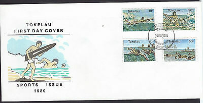 Tokelau 1980 Sports set on unaddressed official first day cover