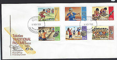 Tokelau 1983 Traditional Pastimes set on unaddressed official first day cover