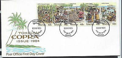 Tokelau 1984 Copra set on unaddressed official first day cover
