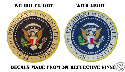 """SEAL PRESIDENT OF US OBAMA BADGE DECALS 4"""" x 4"""""""