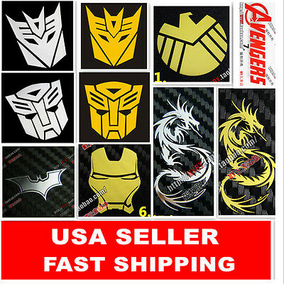 New one piece Transformers MARVEL SUPERHEROES Sticker for Laptop Phone PC