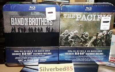 BAND of BROTHERS & THE PACIFIC 12-Discs Blu-ray Set STEELBOOK Metal Case 1080p