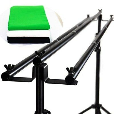 NEW tripple cross bars backdrop stand studio support system 7ft x 10 ft kit