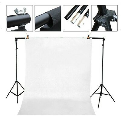 Studio fully adjustable backdrop support system 7 ft x 10 ft & 2 clamp backdrop