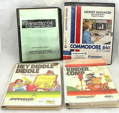 Bulk Lot Of 4 Vintage Commodore 64 Software Packages Kids & Office!!