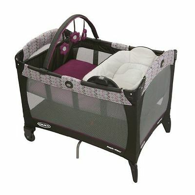 Graco Play Pen Playard Reversible Napper Changer Crib Bassinet Nursery Nyssa