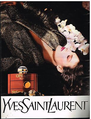 Publicité Advertising 1987 Parfum Opium Yves Saint Laurent