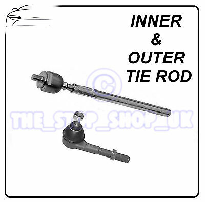 Peugeot 206 & 206+ 98-09 RIGHT Inner & Outer Tie Rod End Steering Track Rod