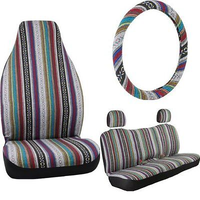 Bell Automotive Baja Blanket Complete Seat and Steering Wheel Cover Kit, New