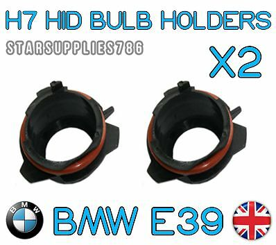 2x H7 BMW E39 HID HEADLIGHT HOLDERS BMW CONVERSION KIT BULB HOLDERS E39