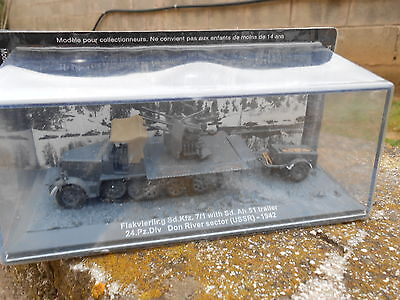 "Die Cast Tank ""flankvierling Sd.kfd 7/1 With Sd. Ah.51 Don River Ussr 1942"" 1/72"