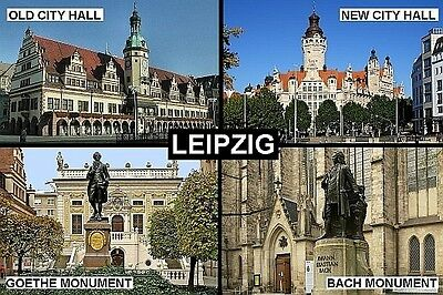 SOUVENIR FRIDGE MAGNET of LEIPZIG GERMANY