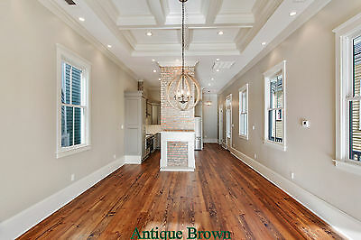 "6""  8"" Wide Plank Prefinished Pine Flooring, heart pine, hand rubbed oil finish"