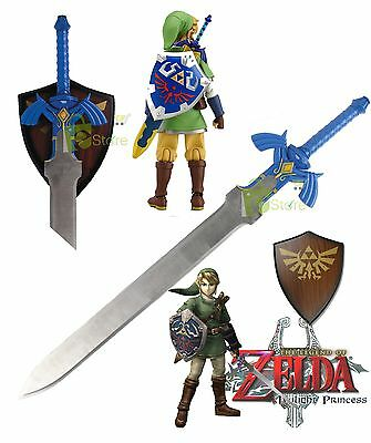 Anime Legend of Zelda Blue Link Twilight Princess Master Fantasy Sword cosplay