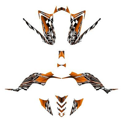 Yamaha Raptor 90 graphics YFM 90R custom ATV deco kit #2500 Orange