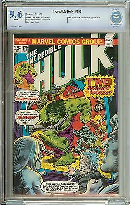 Incredible Hulk #196 Cbcs 9.6 White Pages // Abomination Appearance