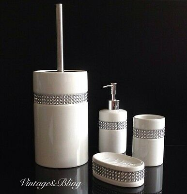 Diamante bathroom set 28 images diamante bathroom for Black bling bathroom accessories