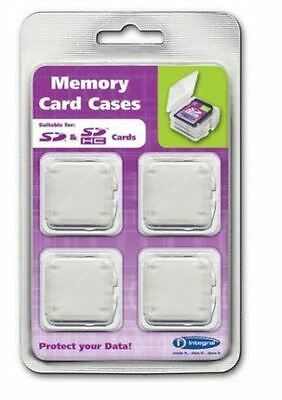 Integral Secure Digital SD, SDHC Camera Memory Card Storage Cases 4 Pack